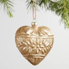 gold and glass ornaments set of 2 world market