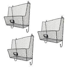 fruit by mail mail rack wall mount key letter fruit basket holder metal 3 tier