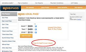 epic local pass claim of paying for itself in just 4 days isn t