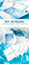 Frozen Invitation Cards Diy 3d Frozen Themed Party Invitations The Crafting Nook By