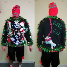 mens light up ugly christmas sweater 3 d bad naughty elf tacky ugly christmas sweater light up wild