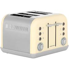 Morphy Richards Accent Toaster Red Morphy Richards Accents 242033 4 Slice Toaster Cream