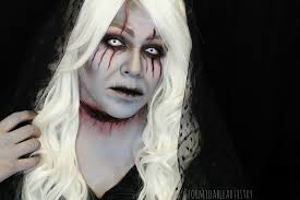 white halloween makeup formidableartistry game of thrones lady stoneheart 31 days of