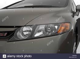 2007 honda civic si in gray headlight stock photo royalty free