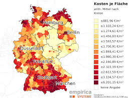 Map Of Hamburg Germany by Price Maps For Germany Empirica Systeme Gmbh