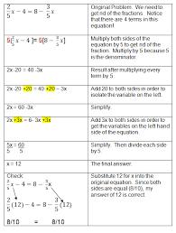algebraic equations chart solving algebra equations with