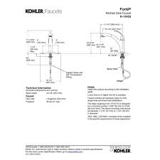 kohler forte pull out kitchen faucet kohler faucet k 10433 bn forte vibrant brushed nickel pullout