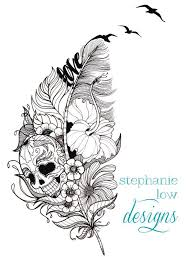 custom tattoo illustration for rachel tattoo tatting and tatoo