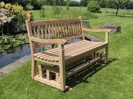 teak glider bench