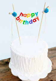 cake banner topper birthday cake banner birthday cake topper happy birthday cake