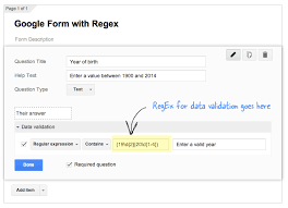 Html Input Pattern Alphanumeric | useful regular expressions for data validation in google forms