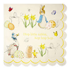meri meri rabbit rabbit happy easter napkins meri meri easter party party ark