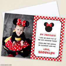 minnie mouse thank you cards minnie mouse party photo thank you cards
