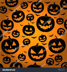 jack o lantern silhouette background halloween stock vector