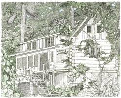 log cabin drawings idaho log cabin drawing by mike light