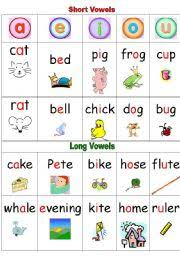 english teaching worksheets long vowels
