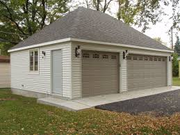 example of 2 car detached garage with hip roof garages