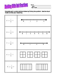 grade 5 u0026 6 divide by unit fractions using visual models