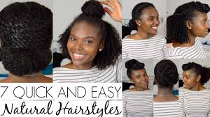 Quick Easy Hairstyles For Girls by 7 Quick And Easy Hairstyles For Natural Hair Youtube