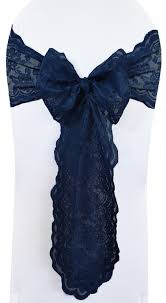 navy blue chair sashes navy blue lace wedding chair sashes lace chair bow ties
