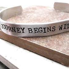 wedding quotes journey begins every journey begins with a single step custom quote by riskybeads