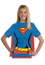 Superhero Halloween Costumes Girls Girls Supergirl Shirt Costume Superhero Halloween Costumes