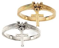 cross gold rings images Dangle cross ring in 14k gold 1007 gif