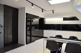 modern white and black kitchens fabulous kitchen design with black