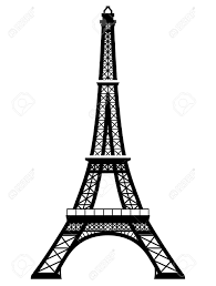 eifel tower french eiffel tower in black and white color silhouette of paris