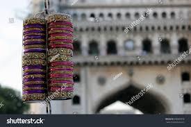 indian bangles rigid bracelets traditional ornaments stock photo