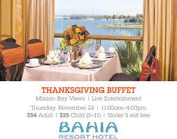 buffet bahia resort hotel san diego ca