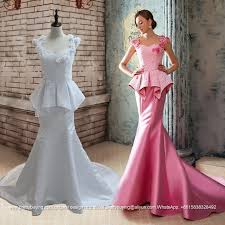 Wedding Dress With Train See Through Satin Lace Champagne Mermaid Wedding Dress With Sweep