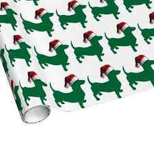 dachshund christmas wrapping paper christmas green dachshund gift wrapping paper doxies