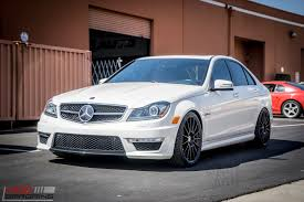 lowered amg w204 c63 amg on hre ff15s tries new michelin pilot 4s