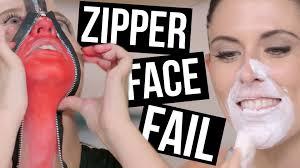 worst halloween zipper face makeup tutorial ever beauty break