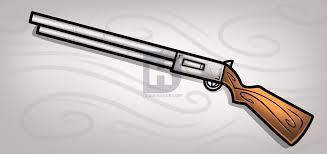 how to draw a shotgun easy step by step by darkonator drawinghub