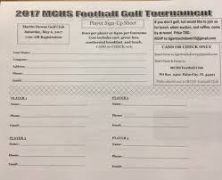 Golf Tournament Sign Up Sheet Template 2017 Martin County Football Booster Golf Tournament This Is