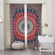 98 Drapes Popular Mandala Curtains And Trippy Curtains Hippie Window Drapes By