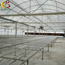 Metal Greenhouse Benches Dip Galvanized Steel Greenhouse Rolling Bench For Nursery