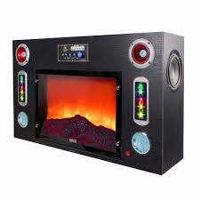 technical pro fire5000 electric fireplace bluetooth entertainment