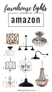 farmhouse decor on amazon joanna gaines lights and house
