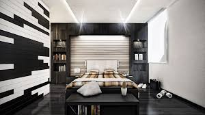 Black And White Bed Bedroom Beautiful Grey Brown White Wood Unique Design Wall