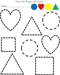 free worksheets shapes tracing worksheet free math worksheets