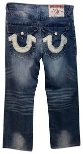 light blue true religion jeans true religion blue light wash white trim denim straight leg jeans
