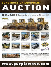 sold june 8 construction equipment auction purplewave inc