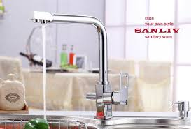 Faucet For Reverse Osmosis System Beautiful Triflow Kitchen Faucet With Reverse Osmosis Systems