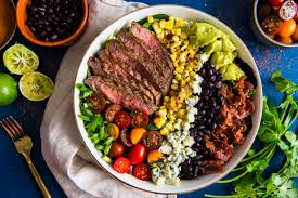 spicy cobb salad with cajun grilled steak u2013 the spice at home