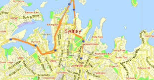 sydney australia map printable map sydney australia city plan 2000 m scale adobe