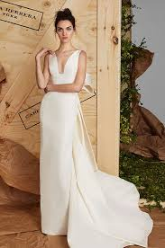 carolina herrera wedding dress simple silk gown with sculpted bow carolina herrera