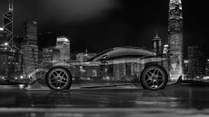 Ferrari F12 Black - ferrari f12 berlinetta side crystal city night car 2015 el tony